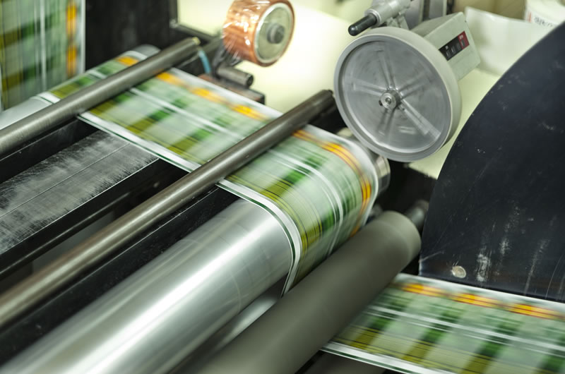 closeup of a digital press during operation