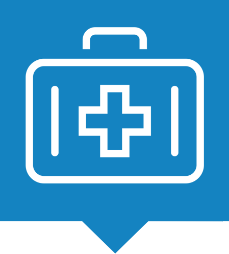 Medical packaging market icon.