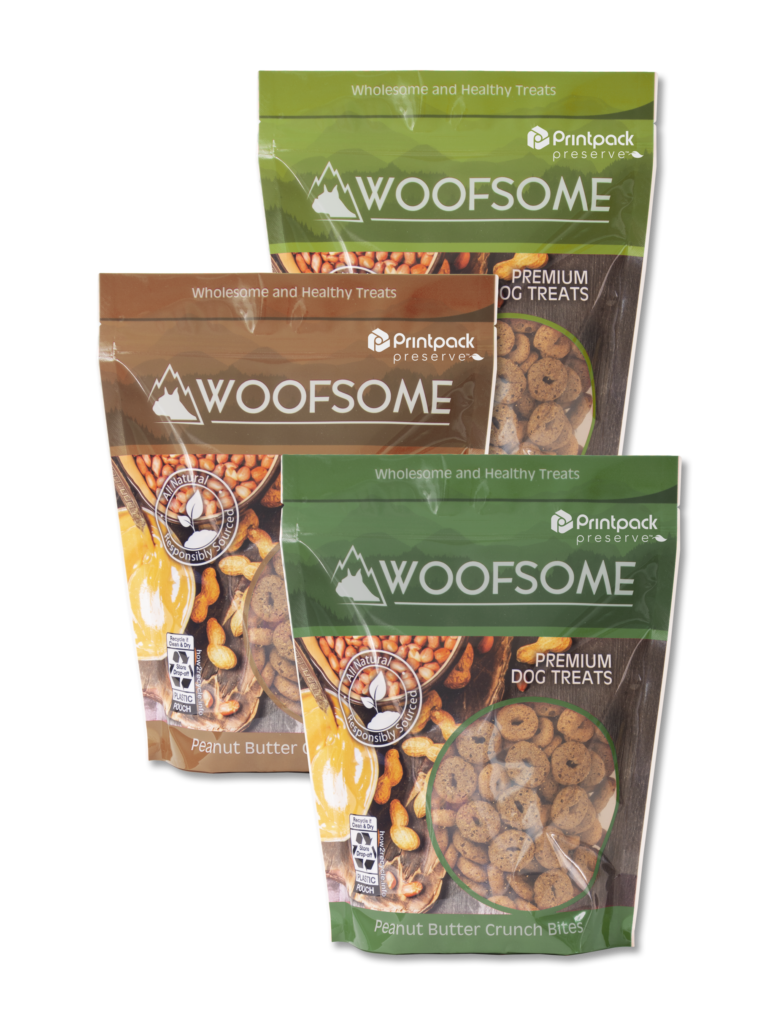 PE Pouch_Woofsome Dog Treats_Earth Tone Collage_TM