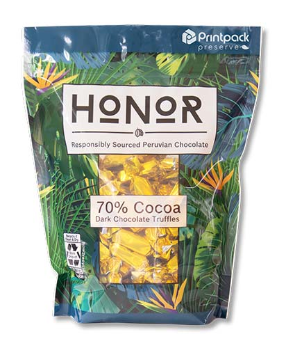 pouch of 70% Cocoa Honor chocolate