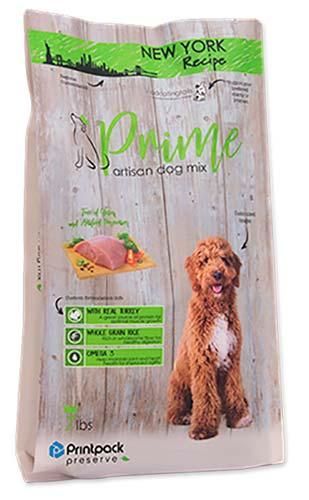a bag of Prime Artisan Dog food from Printpack Preserve