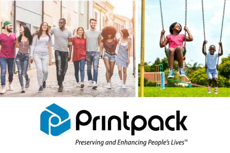 ad highlighting new Printpack tagline