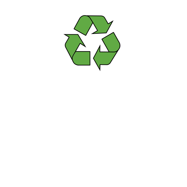 Recyclable paper graphic