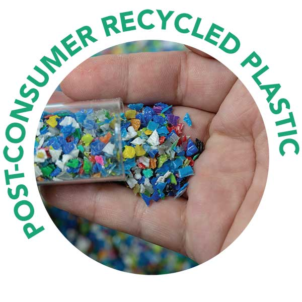 Post-consumer Recycled Plastic icon