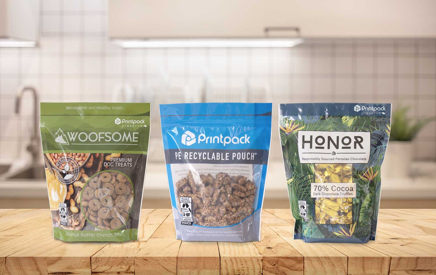 Printpack Preserve stand-up pouches