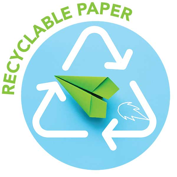 Recyclable paper icon
